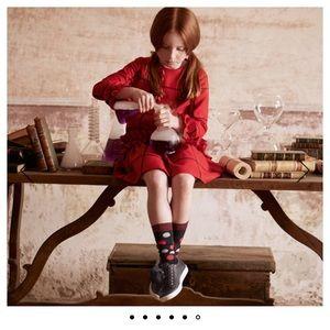 Il Gufo Red Plaid Dress